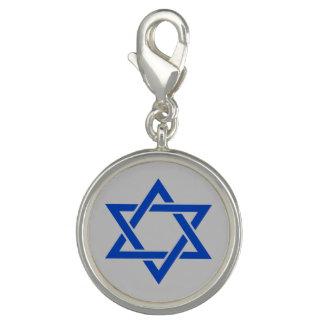 Blauer Davidsstern Israels Auf Mattsilber Foto Anhänger