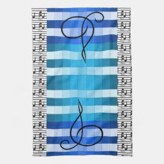 Blauer Designer-musikalisches Handtücher