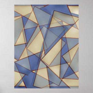 Blauer Diamant abstrakt Plakatdrucke