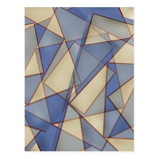 Blauer Diamant abstrakt Postkarte