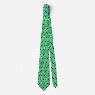 Blauer die Polka-Punkt der Männer und Krawatte