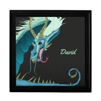 Blauer Drache-Andenken-Kasten Erinnerungskiste