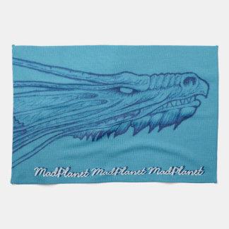Blauer Drache-Kopf Küchentuch