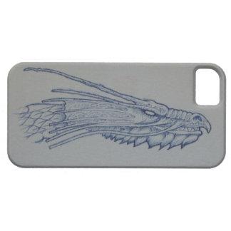 Blauer Drache-Kopf-Telefon-Kasten iPhone 5 Etui