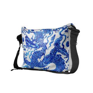 Blauer Drache-Vintager chinesischer Kurier Taschen