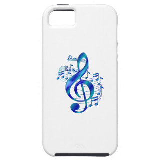 Blauer dreifacher Clef iPhone 5 Etui