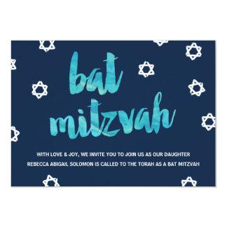 Blauer einzigartiger Schläger Mitzvah des 12,7 X 17,8 Cm Einladungskarte