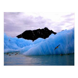 Blauer Eis Berg Postkarten