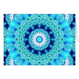 Blauer Eis-SpitzeDoily, abstraktes Aqua Karte