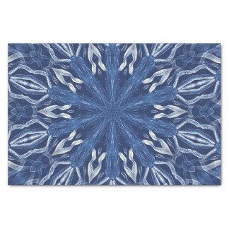 Blauer Eisentwurf Seidenpapier