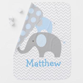 Blauer Elefant Babydecke