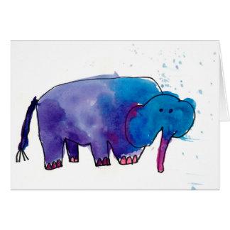 Blauer Elefant • Gracie Glaser, Alter 6 Karte