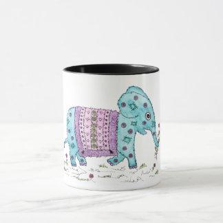 Blauer Elefant Tasse
