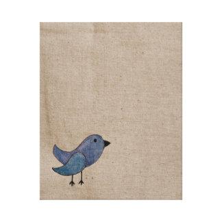 Blauer Emo Vogel-Leinwand-Wand-Druck Leinwanddrucke