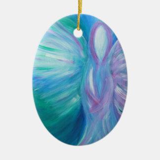 Blauer Engels-wunderliche heilende Kunst Keramik Ornament