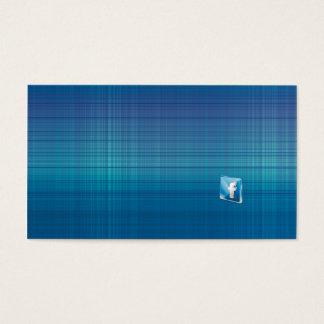 Blauer Entwurfs-Hintergrund mit facebook Visitenkarte