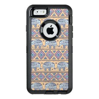 Blauer ethnischer Elefant-Stammes- Muster OtterBox iPhone 6/6s Hülle