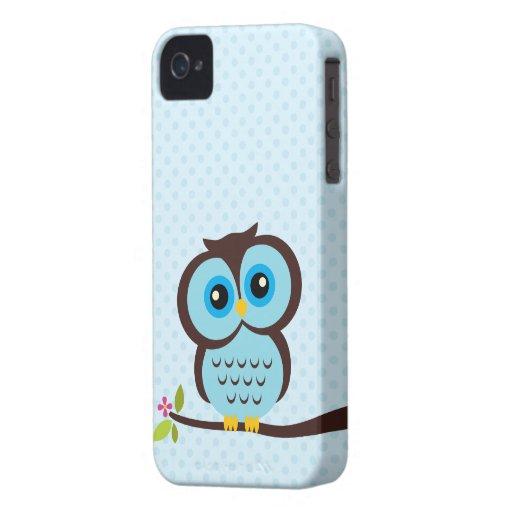 Blauer Eulen-Kasten für das iPhone 4 iPhone 4 Case-Mate Hüllen