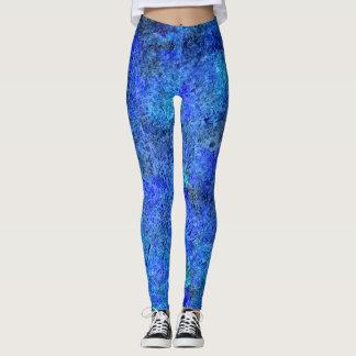 Blauer Farben-Spritzer #2 Leggings