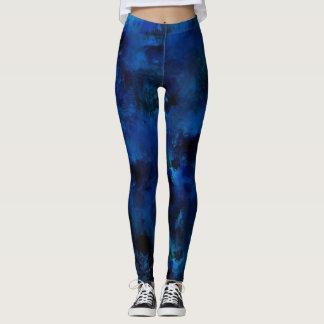 Blauer Farben-Spritzer #3 Leggings