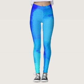 Blauer Farben-Spritzer #5 Leggings