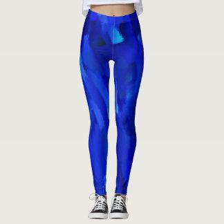 Blauer Farben-Spritzer #6 Leggings