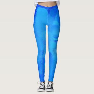 Blauer Farben-Spritzer Leggings