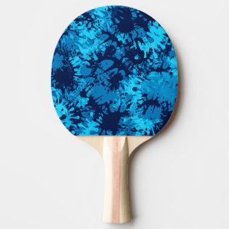Blauer Farben-Spritzer Tischtennis Schläger