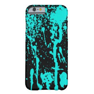 Blauer Farben-Spritzer und Tropfen Barely There iPhone 6 Hülle