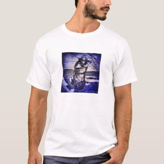 Blauer Farbschlitten-Hund T-Shirt