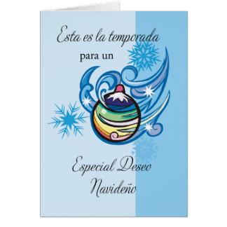 Spanische feiertags gru mitteilungskarten - Weihnachtskarte spanisch ...