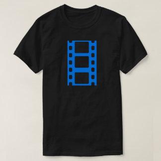 Blauer Film-Streifen T-Shirt