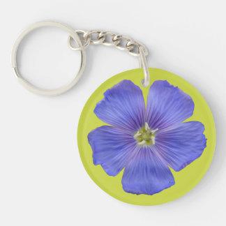 Blauer Flachs #1 Schlüsselanhänger