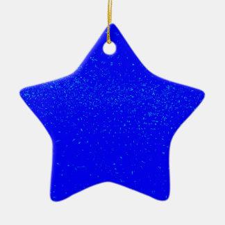 Blauer Fleck-Hintergrund Keramik Stern-Ornament
