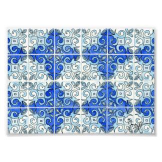 Blauer Fliesen-Entwurf 2 - Wirbel Photographie