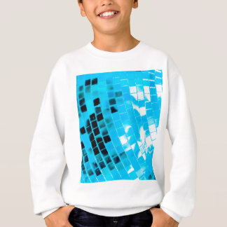 Blauer flippiger Disco-Ball Sweatshirt