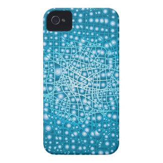 Blauer flüssiger Hintergrund iPhone 4 Hüllen
