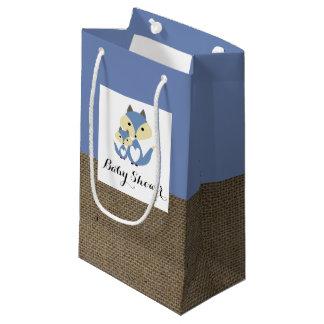 Blauer Fox-Leinwand-Babyparty Kleine Geschenktüte