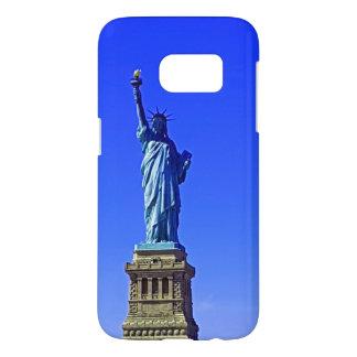 Blauer Freiheits-Telefon-Kasten