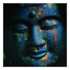 Blauer Frieden Buddhas OM Poster