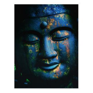Blauer Frieden Buddhas OM Postkarte