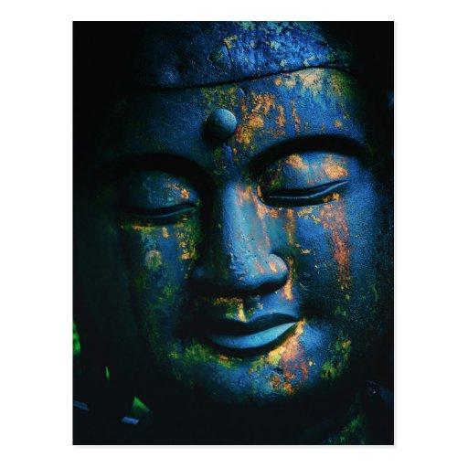 Blauer Frieden Buddhas OM Postkarten