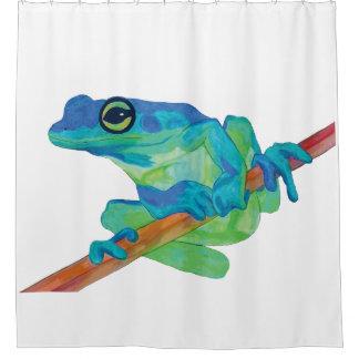 Blauer Frosch Duschvorhang
