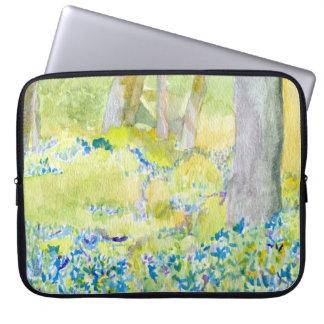 Blauer Frühlings-Blumen-Laptop-Kasten Laptop Sleeve