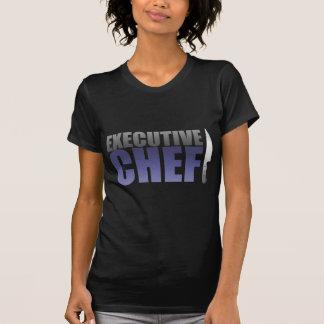 Blauer Führungskraft-Koch T-Shirt