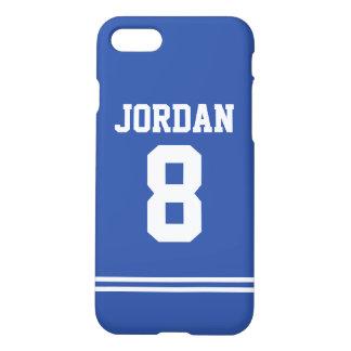 Blauer Fußball Jersey mit Zahl iPhone 8/7 Hülle