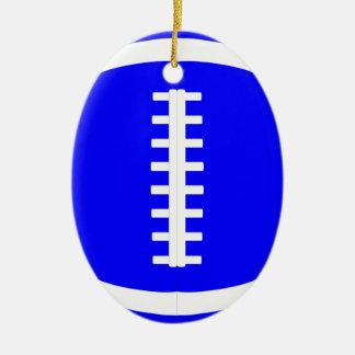 Blauer Fußball-Spieler oder Keramik Ornament