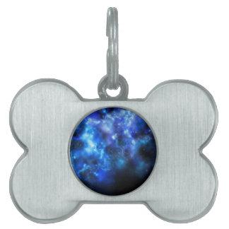 Blauer Galaxie-Druck Tiermarke
