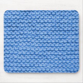 Blauer Garn-Strick Mousepad