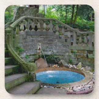 Blauer Garten-Brunnen Untersetzer
